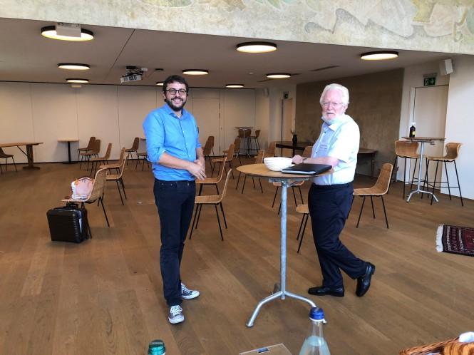 Gastgeber Yann Rod und Gast Hanspeter Furrer, Vertreter des Luzerner Forum60plus