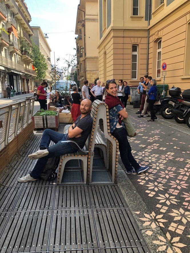 Sitzgelegenheiten im öffentlichen Raum